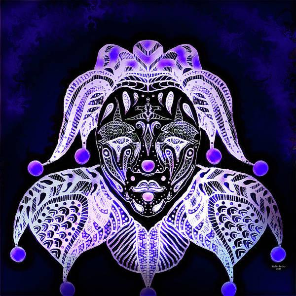 Digital Art - Clown Mandala by Artful Oasis