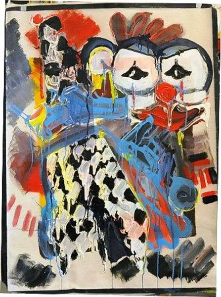 Wall Art - Painting - Clown by Mounir Lakkis
