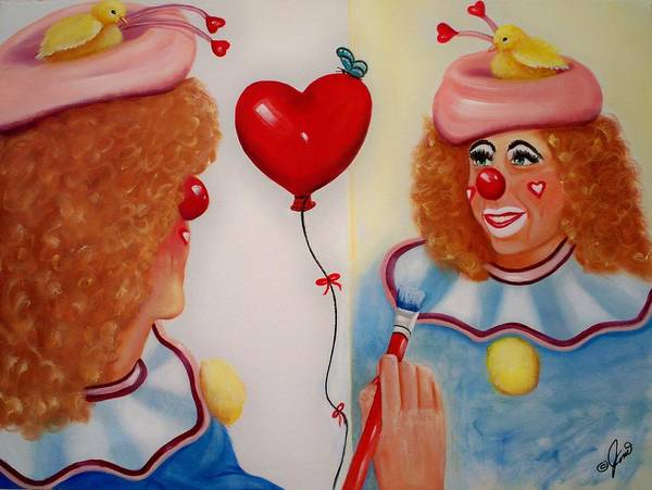 Clown Painting Art Print