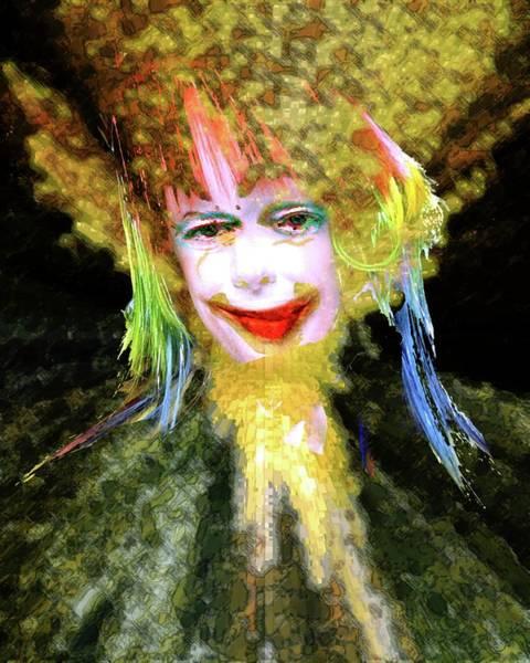 Grotesque Digital Art - Clown by Robert Sloan
