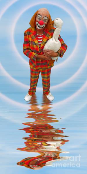 Photograph - Clown With Goose A173318 2x1 by Rolf Bertram