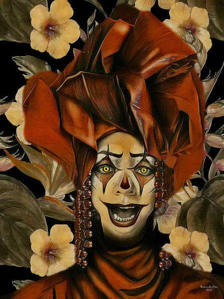 Digital Art - Clowns Are Scary by Artful Oasis