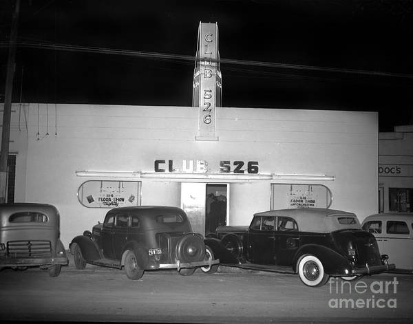 Photograph - Club 526  Henry Franci, Salinas 1941 by California Views Archives Mr Pat Hathaway Archives