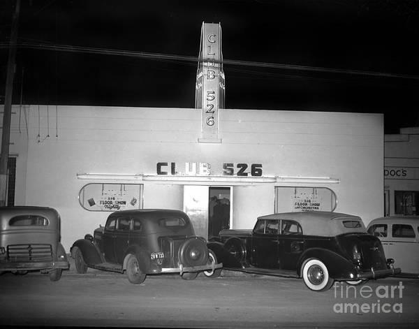 Club 526  Henry Franci, Salinas 1941 Art Print