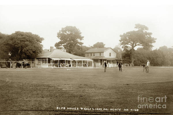Photograph - Club House And Golf Links, Old Del Monte, Monterey, California Circa 1920 by California Views Archives Mr Pat Hathaway Archives