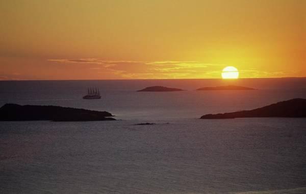 Club Med Sailing Into Sunset Art Print