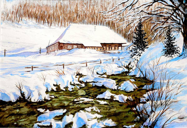 Clubhouse In Winter Art Print