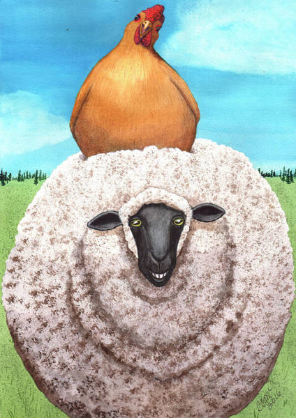 Painting - Cluck Ewe by Catherine G McElroy