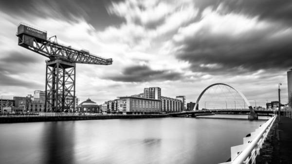 Konica Wall Art - Photograph - Clyde Arch, Glasgow, Scotland - Black And White Cityscape Photography by Giuseppe Milo
