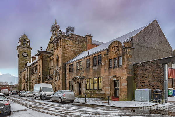 Clydebank Photograph - Clydebank Former Police Station by Antony McAulay