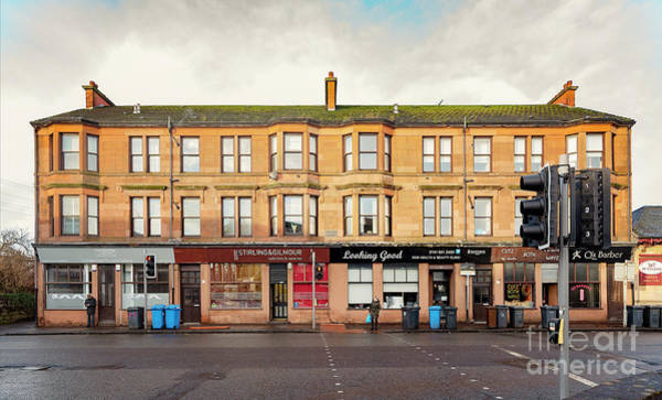 Tenement Photograph - Clydebank Sandstone Tenement Kilbowie Road by Antony McAulay