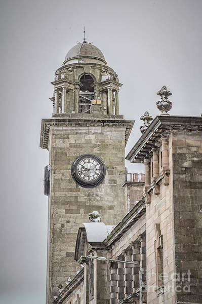 Clydebank Photograph - Clydebank Town Hall Clock Tower by Antony McAulay