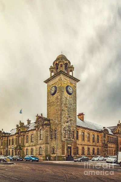 Wall Art - Photograph - Clydebank Town Hall Corner by Antony McAulay