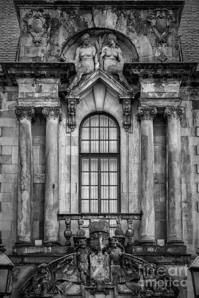 Clydebank Photograph - Clydebank Town Hall Window Mono by Antony McAulay