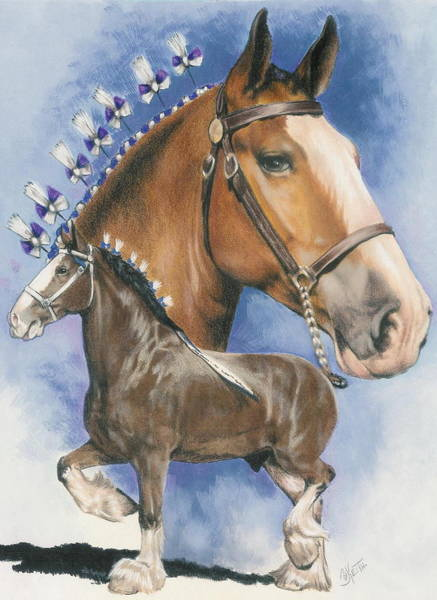 Mixed Media - Clydesdale by Barbara Keith