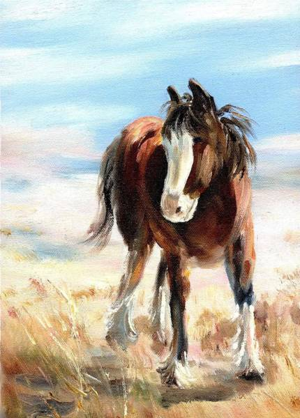 Painting - Clydesdale Foal by Ryn Shell