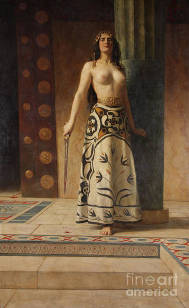 Wall Art - Painting - Clytemnestra by John Collier