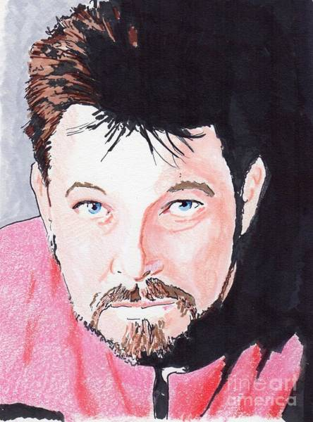 Drawing - Cmd Riker by Bill Richards