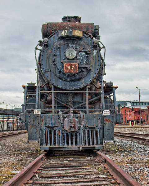 Photograph - Cn Locomotive 47 - Front View by Kristia Adams