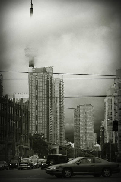 Wall Art - Photograph - Cn Tower In Clouds by Andriy Zolotoiy
