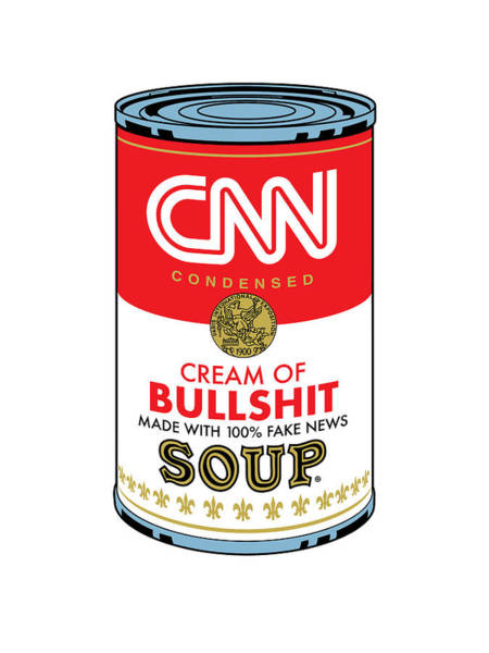 Digital Art - Cnn Soup Can by Gary Grayson