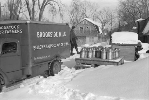 Wall Art - Photograph - Co-op Dairy Milk Pickup by Marion Post Wolcott