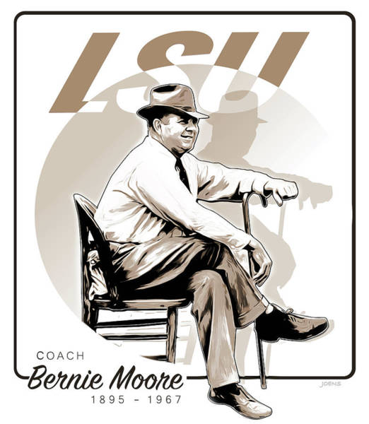 Louisiana Digital Art - Coach Bernie Moore by Greg Joens