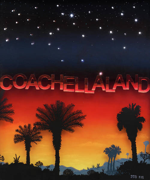 Skyscape Painting - Coachellaland by Jon Carroll Otterson