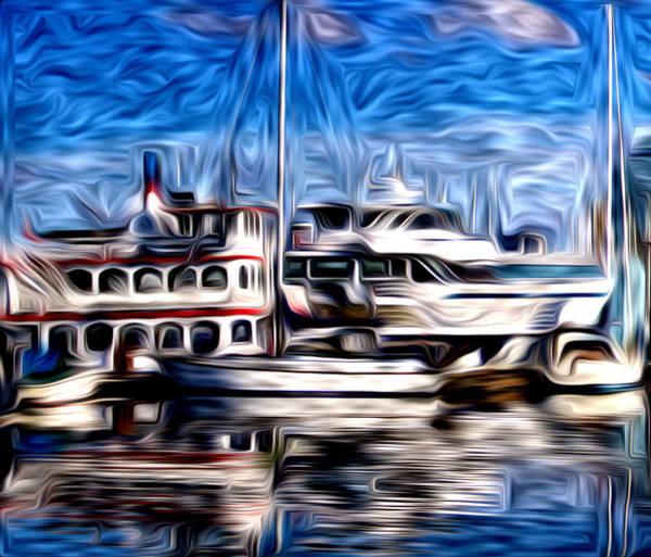 Vancouver Digital Art - Coal Harbour Boats  by Julius Reque