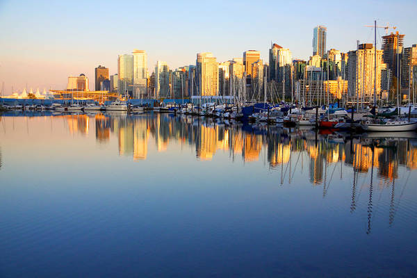 Wall Art - Photograph - Coal Harbour Sunset 1 by Julius Reque