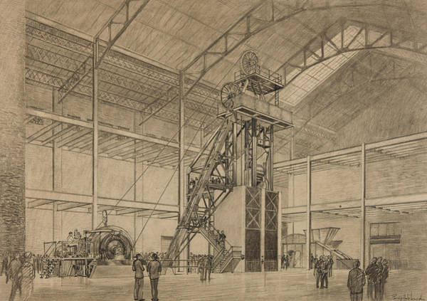 Coal Mine Hoist Art Print