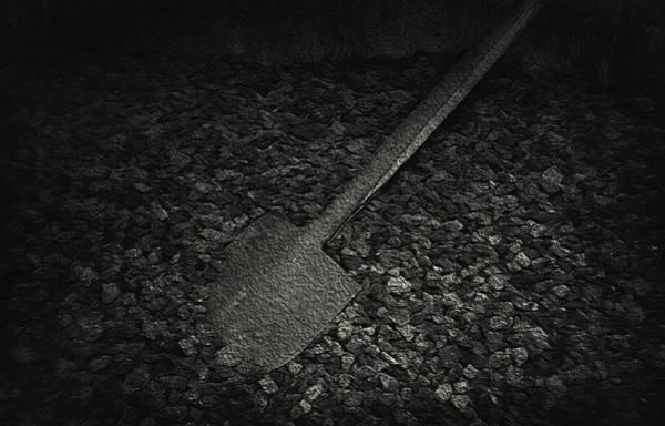 Wall Art - Photograph - Coal Shovel - Pioneer Village by Steve Ohlsen