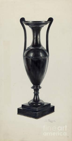 Wall Art - Drawing - Coal Vase by Charles Bowman