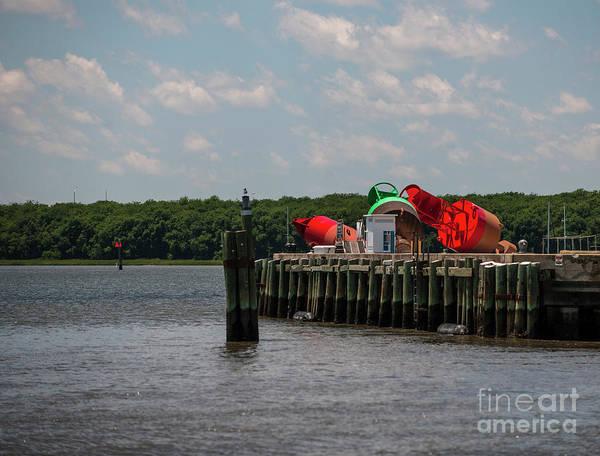 Photograph - Coast Guard Buoys by Dale Powell
