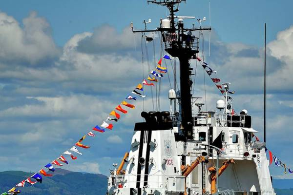 Photograph - Coast Guard Flags by Jerry Sodorff