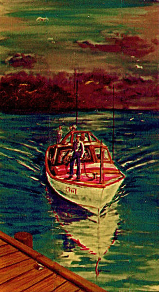 Painting - Coast Guard Before The Storm by Frank Hunter
