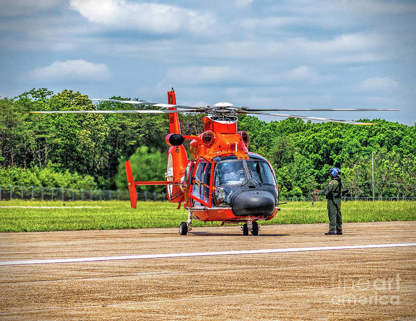 Photograph - Coast Guard Helo Redy by Nick Zelinsky