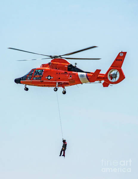 Photograph - Coast Guard Rescue Helicopter by Nick Zelinsky