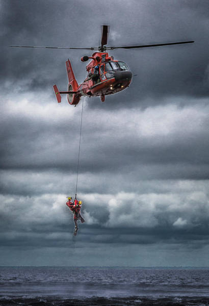 Photograph - Coast Guard Rescue Operation  by Gregory Daley  MPSA
