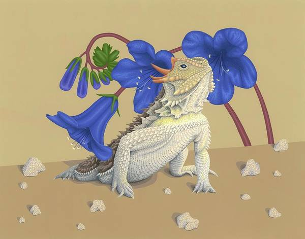 Wall Art - Painting - Coast Horned Lizard by Nathan Marcy