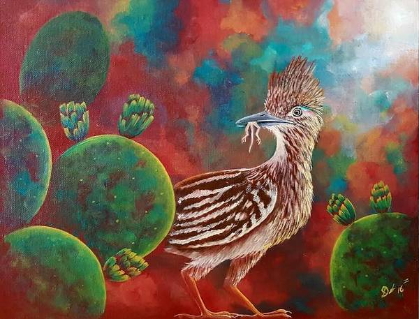 Roadrunner Painting - Coast Is Clear by Deborah Heins
