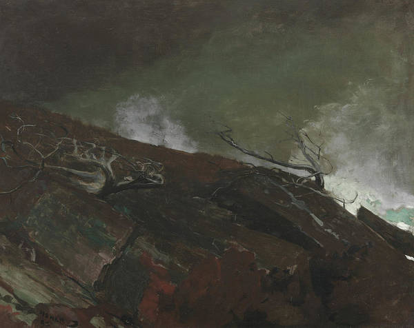 Driftwood Painting - Coast Of Maine by Winslow Homer