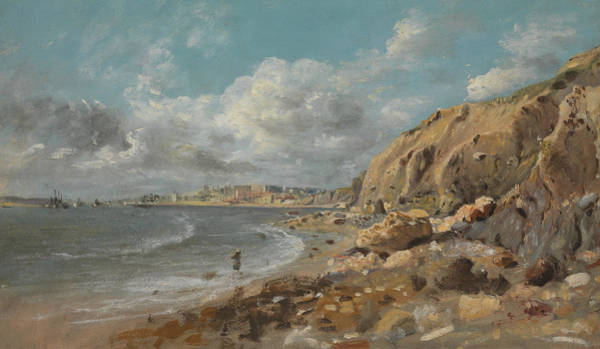 Painting - Coast Scene At Cullercoats Near Whitley Bay by John Linnell