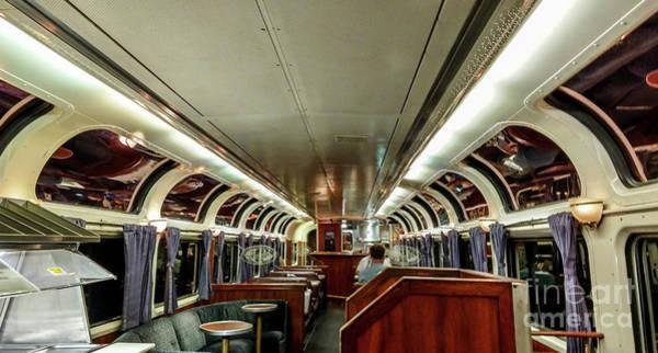Wall Art - Photograph - Coast Starlight Amtrak Train Parlor Car Interior by David Oppenheimer
