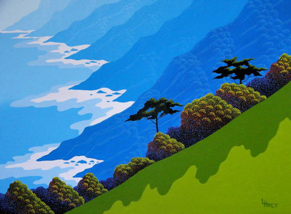 Coastal Painting - Coast Twins by Larissa Holt