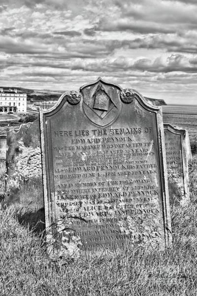 Wall Art - Photograph - Coast - Whitby Freemason Grave by Mary Bassett