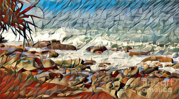 Queensland Digital Art - Coastal Abstract #2 by Trudee Hunter