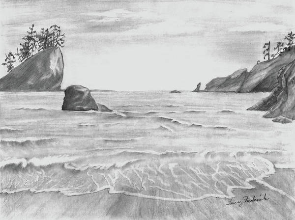 Drawing - Coastal Beach by Terry Frederick