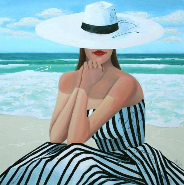 Woman Painting - Coastal Dreams by Thalia Kahl