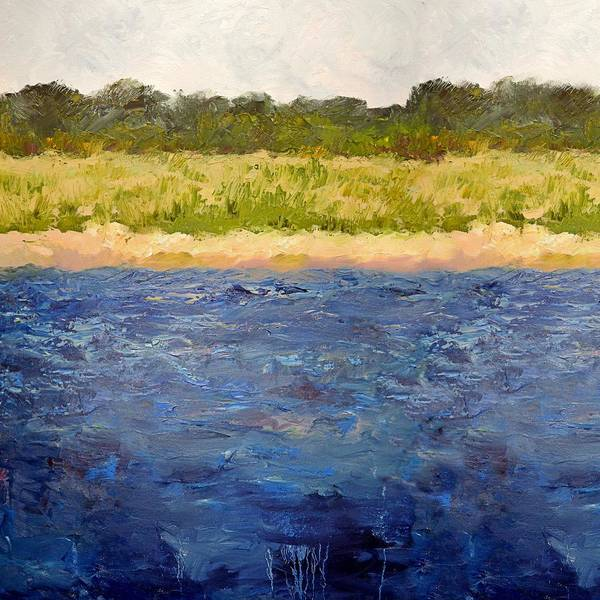 Painting - Coastal Dunes - Square by Michelle Calkins